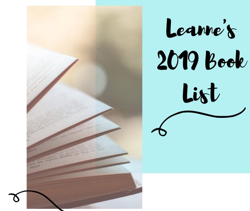 My Book List for 2019