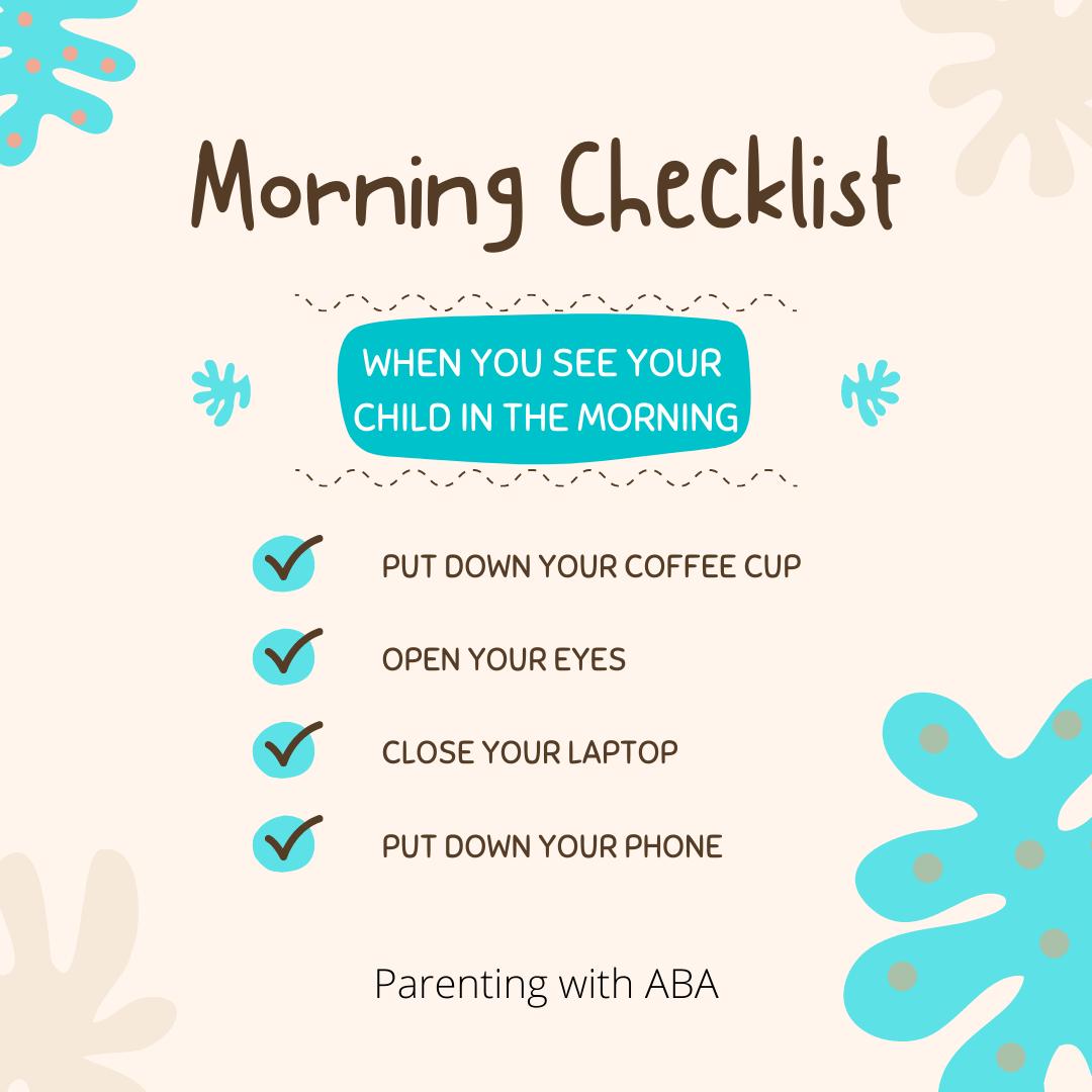 morning checklist for moms